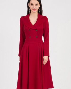 Повседневное платье красный осеннее Grey Cat