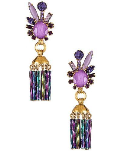 Серьги-гвоздики золотые с камнями позолоченные Elizabeth Cole