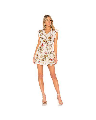 Платье с запахом со складками Needle & Thread