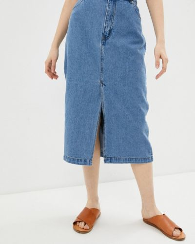Джинсовая юбка - голубая Zarina