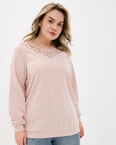 Розовая блузка с длинными рукавами Zizzi