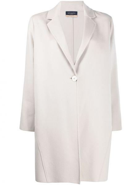 Biały płaszcz wełniany z długimi rękawami Piazza Sempione