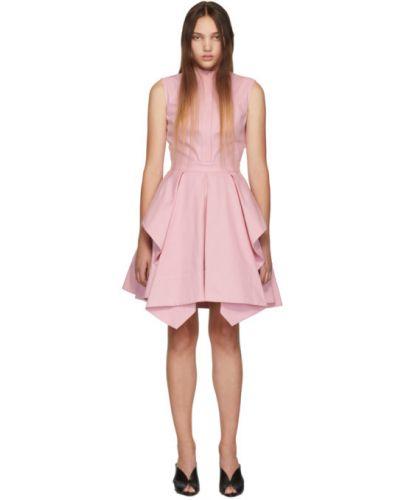 Платье розовое на пуговицах Alexander Mcqueen