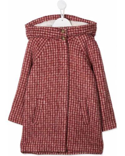 Klasyczny płaszcz wełniany z kapturem Chloé Kids
