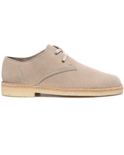Коричневые замшевые туфли на шнурках Clarks Originals