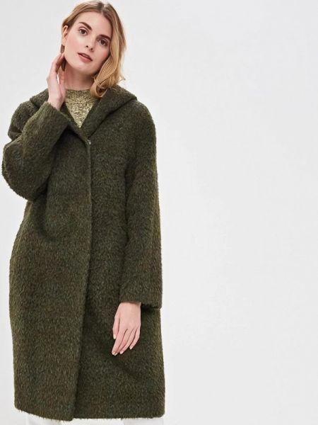 Зеленое пальто с капюшоном Gamelia