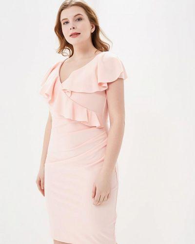 Вечернее розовое вечернее платье City Goddess