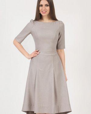 Платье миди бежевое оливковый Olivegrey
