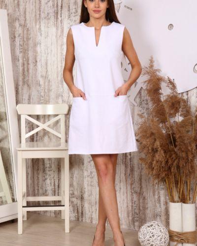 Белое льняное платье инсантрик