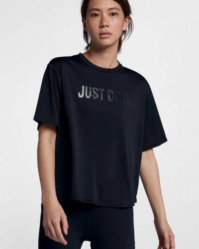 Черная спортивная футболка Nike