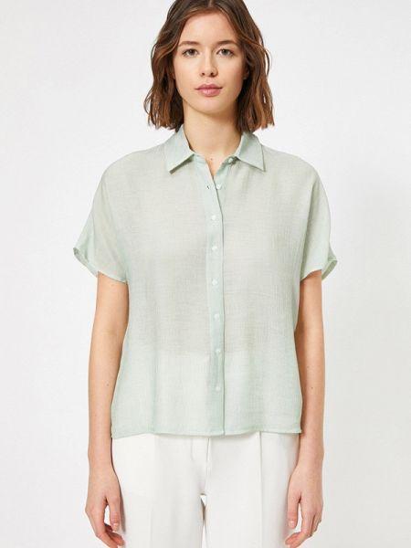 Рубашка с коротким рукавом зеленый хаки Koton