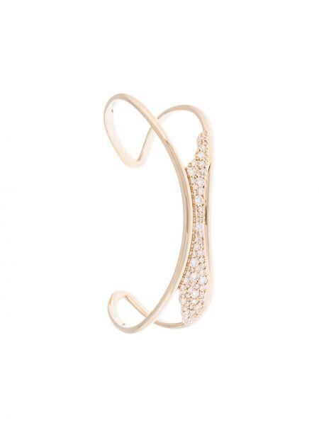 Złota bransoletka ze złota pozłacana z cyrkoniami Atelier Swarovski
