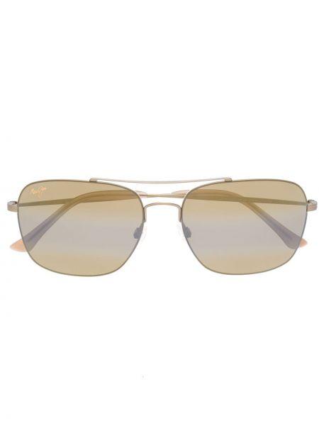 Солнцезащитные очки металлические - желтые Maui Jim