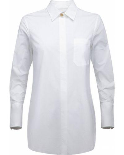 Biała koszula elegancka z długimi rękawami Busnel