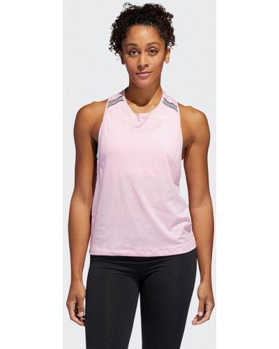 Спортивный топ розовый Adidas