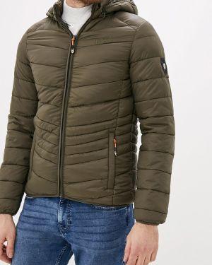 Утепленная куртка демисезонная зеленая Geographical Norway