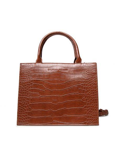 Brązowa klasyczna torebka Silvian Heach