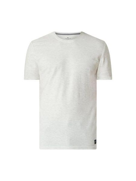Biały t-shirt w paski bawełniany Tom Tailor
