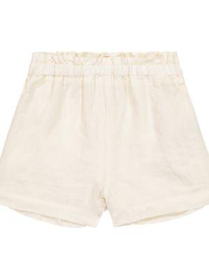 Льняные белые шорты Il Gufo