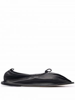 Черные кожаные туфли квадратные Hereu