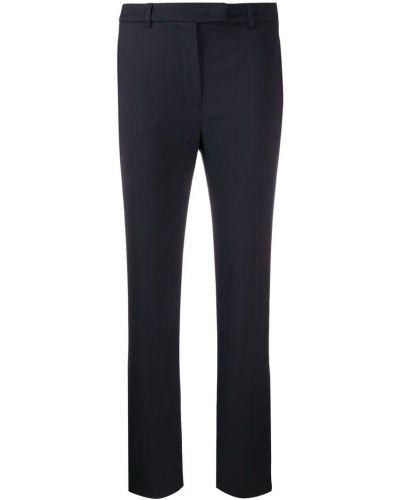 Шерстяные брюки - синие Max Mara Studio