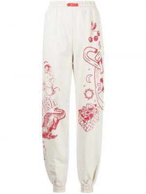 Białe spodnie bawełniane Gcds