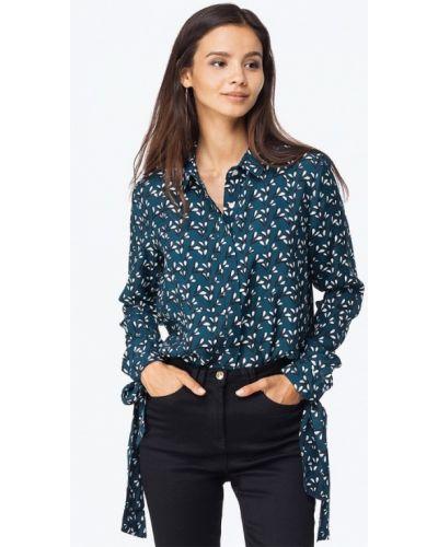 Бирюзовая блузка осенняя Vilatte