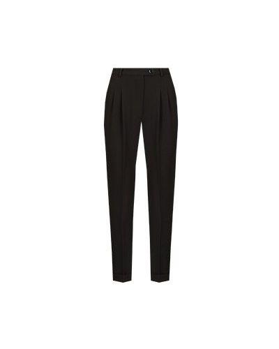 Прямые черные брюки из вискозы Seven Lab