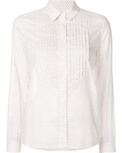 Рубашка с длинным рукавом белая плиссированная Vanessa Seward