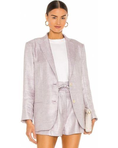 Фиолетовый льняной пиджак с карманами Iro