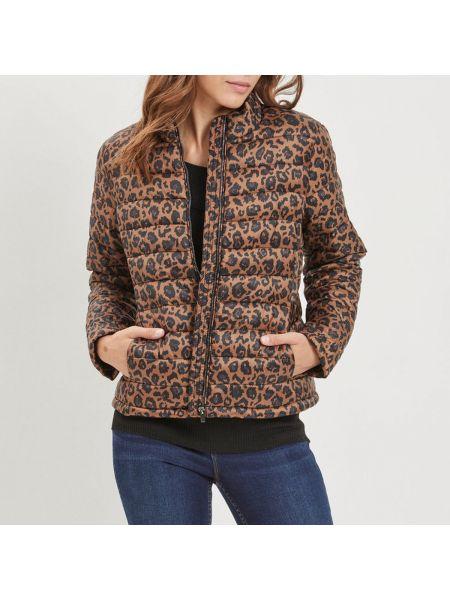 Стеганая куртка с рисунком леопардовая Vila