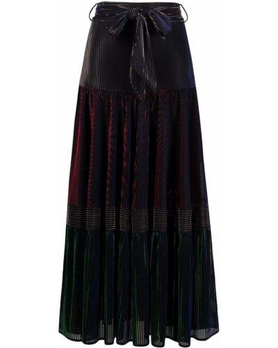 Шелковая юбка миди - черная Talbot Runhof