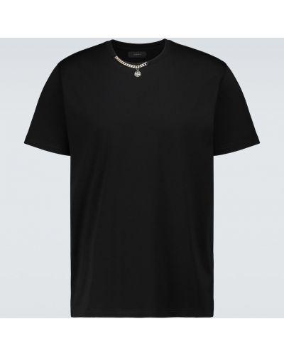 Klasyczny bawełna czarny koszula klasyczna krótkie rękawy Givenchy