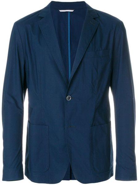 Niebieski bawełna bawełna klasyczny blezer Boss