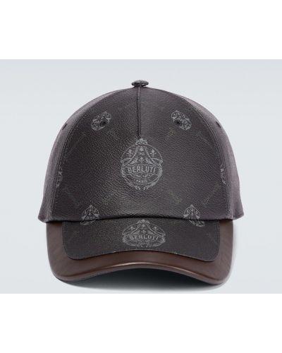 Czarna czapka z daszkiem Berluti