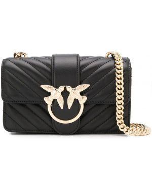 Черная стеганая сумка через плечо с пряжкой Pinko