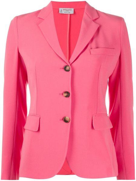 Розовый классический пиджак с карманами с лацканами Alberto Biani