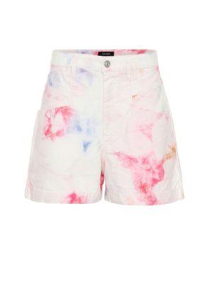 Однобортные хлопковые розовые шорты Isabel Marant