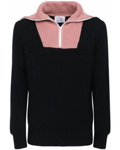 Czarny sweter wełniany Lc23