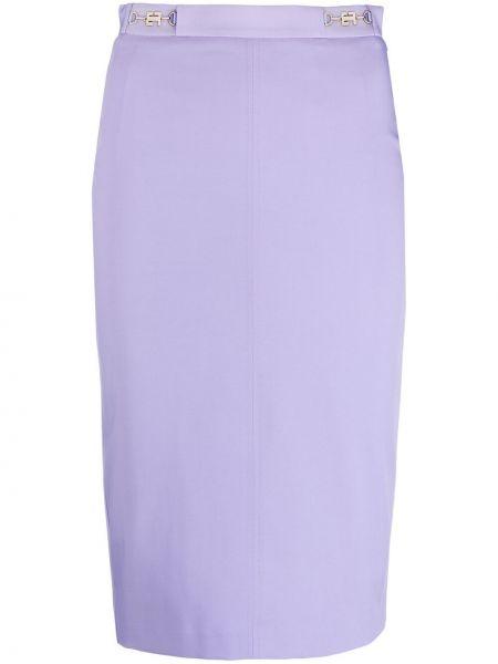 Фиолетовая с завышенной талией юбка карандаш Elisabetta Franchi