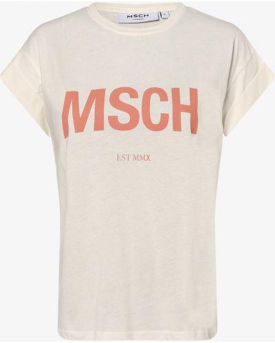 Beżowa t-shirt Moss Copenhagen