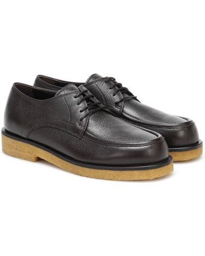 Коричневые кожаные туфли The Row