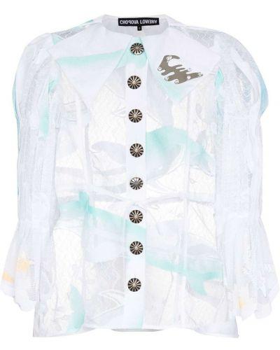 Biała koszula z długimi rękawami - biała Chopova Lowena