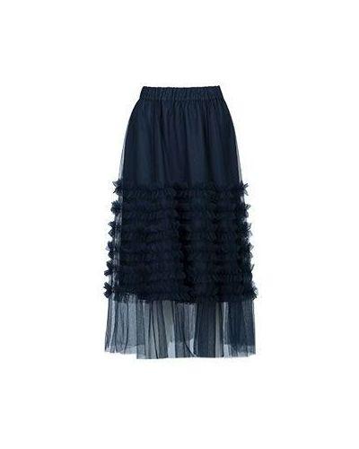 Черная юбка миди P.a.r.o.s.h.
