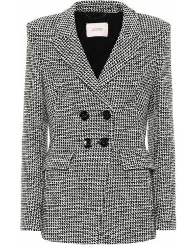Ватный костюмный черный пиджак из вискозы Dorothee Schumacher