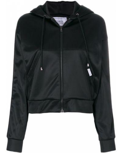 Куртка с капюшоном черная Forte Couture