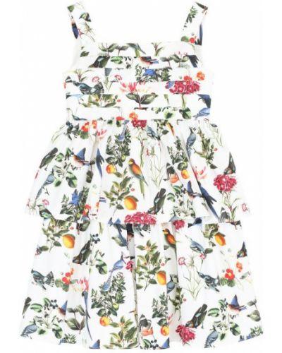 Облегающее платье на бретелях в рубчик Oscar De La Renta