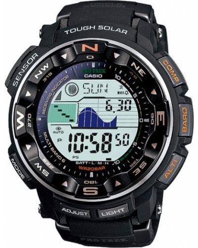 Часы водонепроницаемые кварцевые с подсветкой Casio