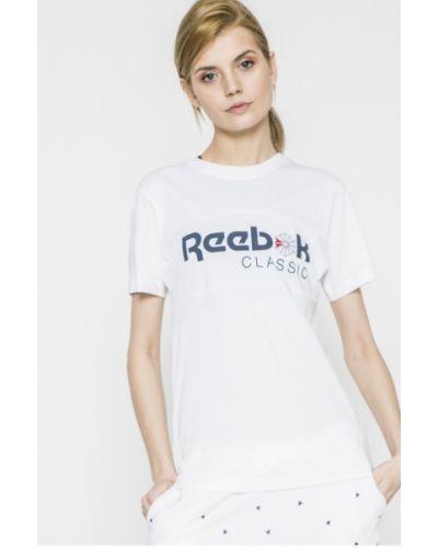 Белая спортивная футболка Reebok