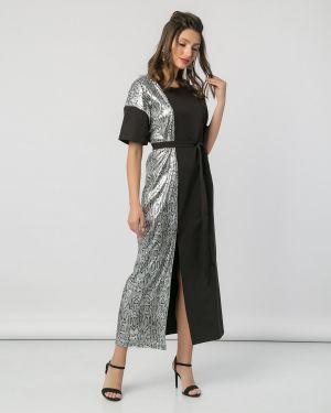 Платье с поясом со вставками платье-сарафан Jetty